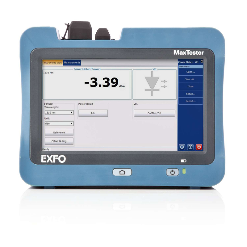 Supply EXFO MaxTester Last-Mile OTDR 715B 1310nm/1550nm 30/28dB Optical Time Domain Reflectometer OTDR By DHL