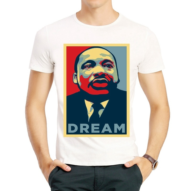 Martin Luther King T Shirt Fashion Short Sleeve Famous Men Martin