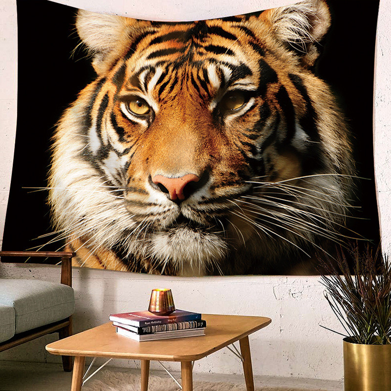 Wall Hanging Tiger Printed Large Tapestry Home Decor Bed