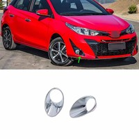 Car Accessories Exterior Decoration ABS Chrome Front Fog Lamp Light Cover Trims For Toyota Vios/Yaris Hatchback 2019 Car-styling