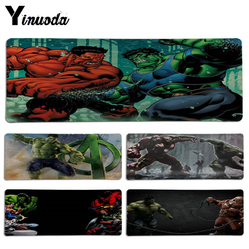 Yinuoda New Printed Hulk Bruce Banner mouse pad gamer play mats Size for 300*700*2mm and 300*900*2mm Game Mousepad