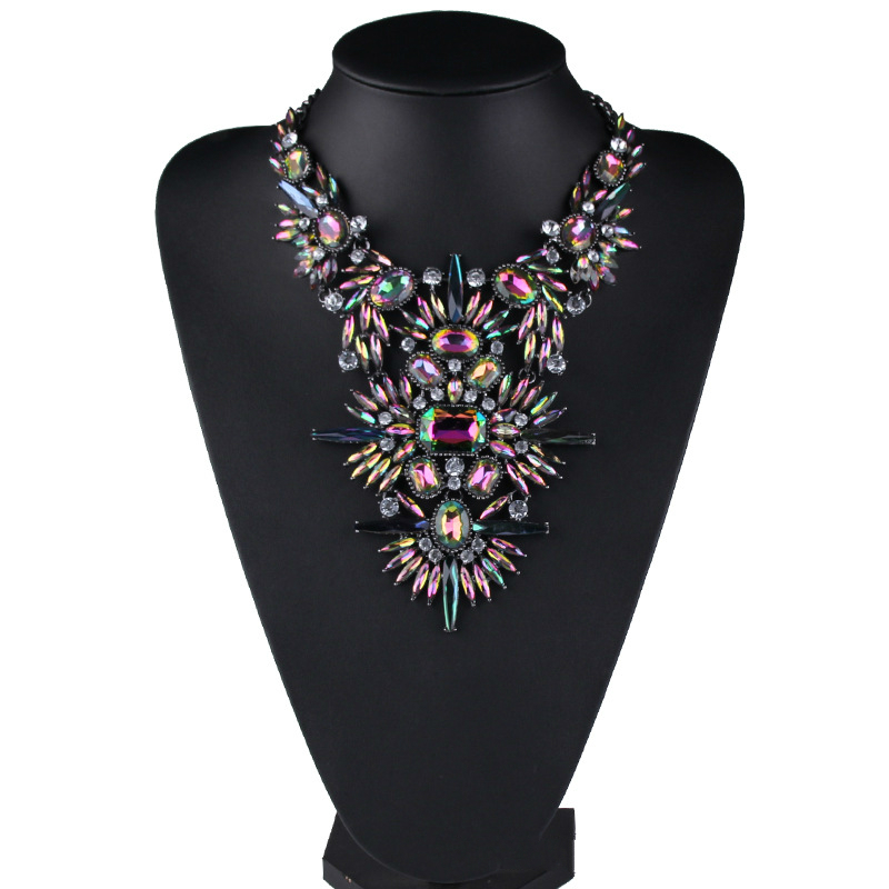 2019 mode sommer strand schmuck strass anhänger kette blume halskette luxus frauen neue sexy große aussage choker halskette