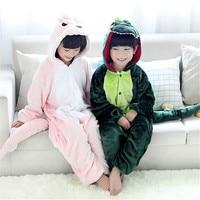 Brand Kids Boy Girls Sleepwear Soft Flannel Animal 3 12years old Child Pajamas Warm Boys Girls Hooded Robes Children Sleepwear