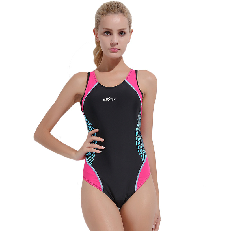 Professional Sports Swimsuit Women One Piece High Quality Athlete Large Size Swimwear Monokini Slim Bathing Suit Women one piece swimsuits trikinis high cut thong swimsuit sexy strappy monokini swim suits high quality denim women s sports swimwear