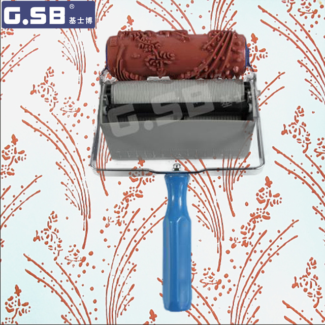 Diy 6inch Soft Rubber Roller Pattern Decorator Roller 150mm Wood
