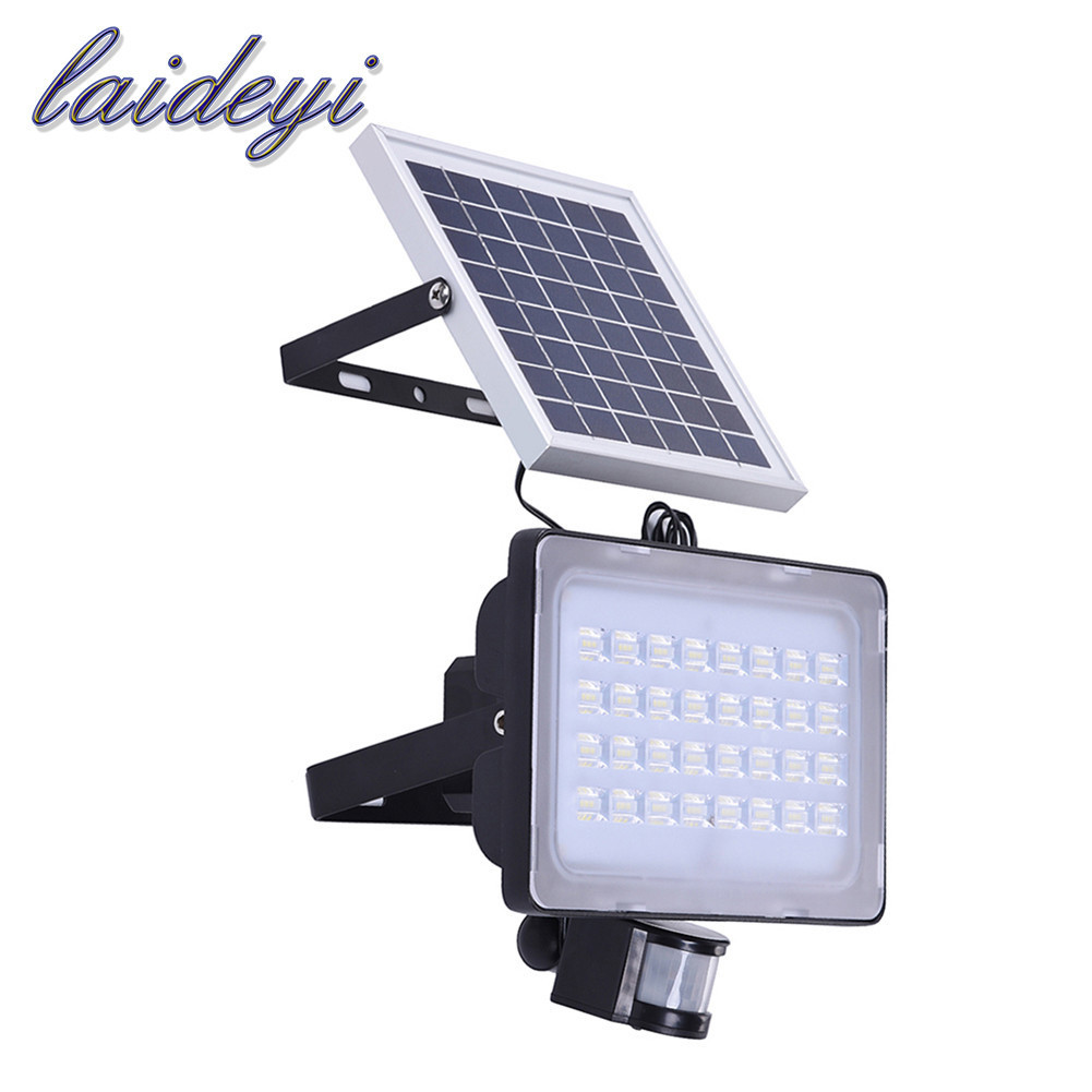 5PCS 50W garden lights with solar panels motion sensor 12V 24V garden lamps on solar batteries path wall lamp waterproof 6000lms