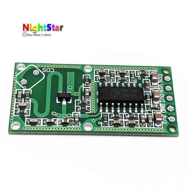 US $0 49 |RCWL 0516 RCWL 0516 Microwave Radar Sensor Human Sensor Body  Sensor Module Induction Switch Module Output 3 3V-in Signal Generators from
