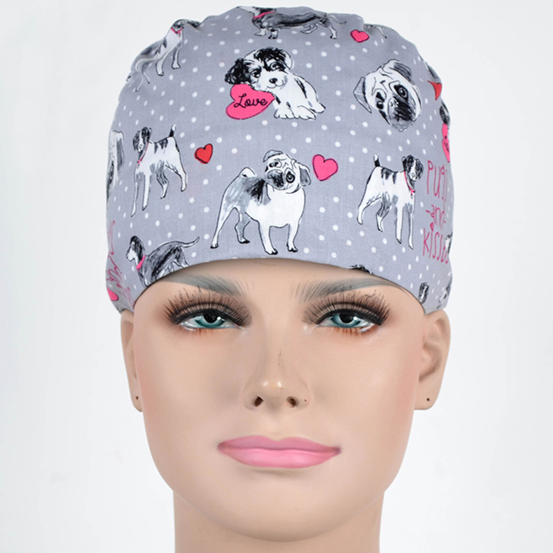 Surgical Cap For Women And Men Operating Room Hat Doctors Nurses Surgery Caps/hat Veterinary Pet Puppy Hat