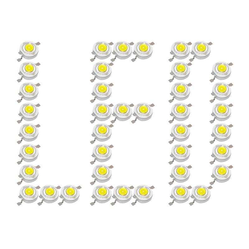 20 قطعة/الوحدة 1 واط عالية الطاقة LED رقاقة سمد المصابيح الباعثة للضوء ديود 100-110lm مصباح ليد حبة ل النازل الأضواء أبيض أزرق أخضر