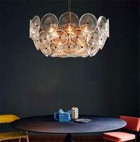 현대 유리 로프트 led 샹들리에 조명 침실 거실 레스토랑 펜 던 트 램프 부엌 비품 매달려 램프 luminaire
