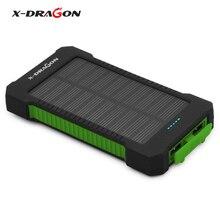 X-DRAGON Портативный Солнечный Зарядное устройство 10000 мАч солнечный телефон Зарядное устройство Батарея для iphone Samsung HTC LG Sony Blackberry Nokia и т. д.