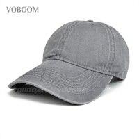 VOBOOM Men Women Leisure Classic Spring Summer Washed Cotton Baseball Cap for Trucker 039