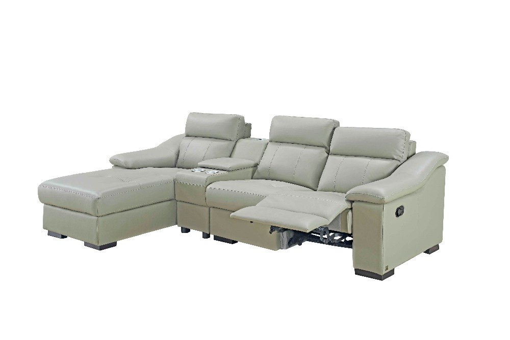 Modern Corner Leather Sofa Cinema