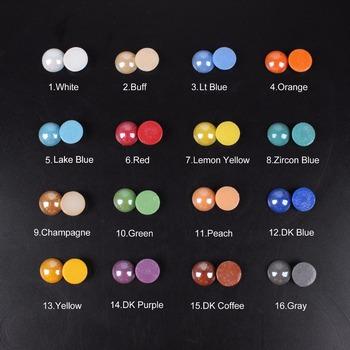 Ceramiczne koraliki Mix kolorów półokrągłe 2-18mm dla DIY Craft kamienie i koraliki do paznokci biżuteria akcesoria darmowa wysyłka tanie i dobre opinie TENGJIAN CN (pochodzenie) Pearl Szkło Tak ( 50 sztuk) Round