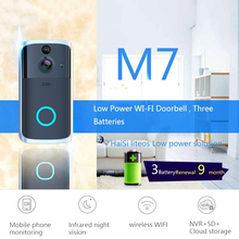 купить M7 Smart WiFi Video Doorbell Camera Visual Intercom with Chime Night Vision Door Bell Wireless Home Security Camera дешево