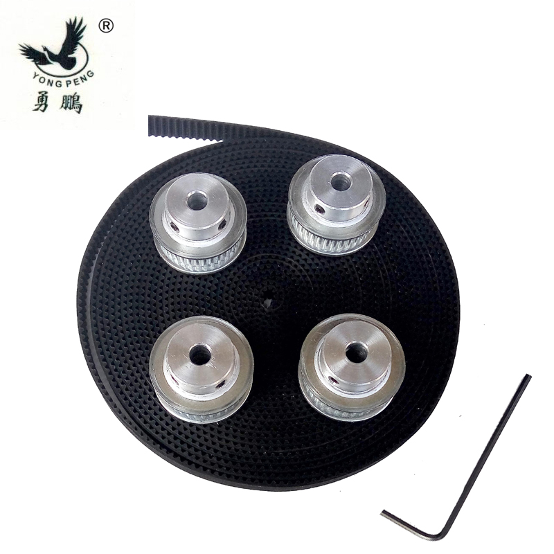 4pieces 36 teeth GT2 Timing Pulley Bore 8mm + 5 Meters GT2 timing Belt Width 6mm 2GT timing belt pulley for 3D CNC machine powge 8pcs 20 teeth gt2 timing pulley bore 5mm 6mm 6 35mm 8mm 5meters width 6mm gt2 synchronous 2gt belt 2gt 20teeth 20t