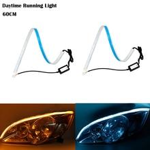2Pcs Headlight for VW Passat B6 B7 Golf 4 MK4 7 Jetta MK5 MK6 Tiguan Flowing Car Daytime Running Light LED DRL Strip Turn Signal