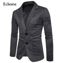 Mens Knitting Suits Blazers 2019 Fashion Casual Slim Fit Button Suit Blazer Jacket Men Terno Masculino 2XL  men suit jacket