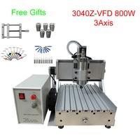 LY 3020 Z VFD 800W 3 axis mini CNC milling machine lathe already assembled free tax to RU