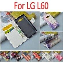 Высокое качество кожаный чехол для LG Optimus L60 X145/L 60/x 145 откидная крышка корпуса с LGL60 LGX145 телефон чехлы