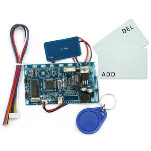 Image 2 - Gratis verzending 13.56 MHZ frequentie Embedded RFID board Proximity Deur Access Control System intercom module + Infrarood handvat