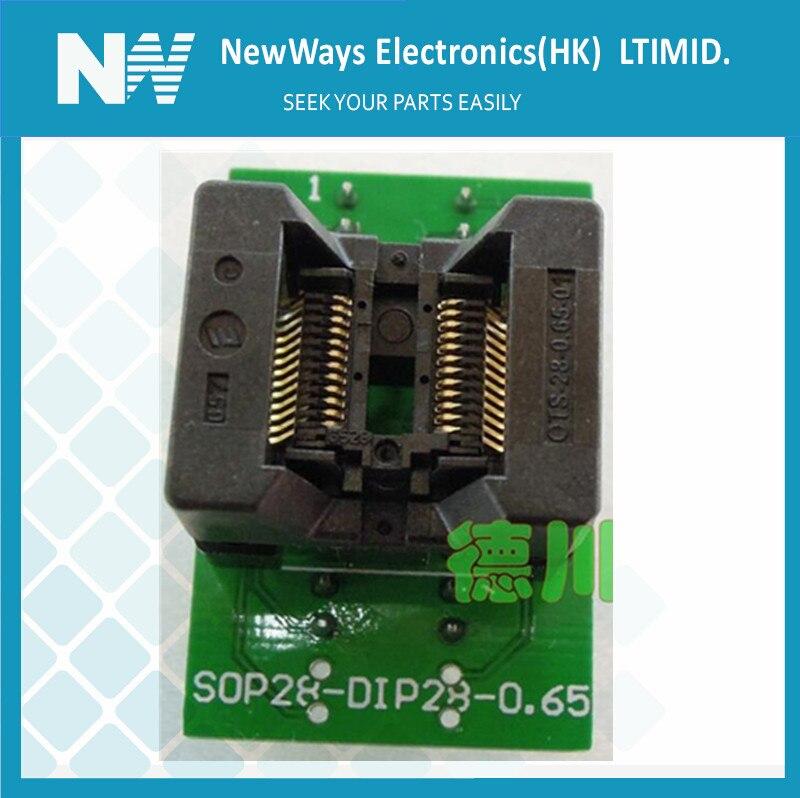 IC Socket  Tssop24 To Dip24 ots-24 28 - 0.65 - 01 programmer adapterIC Socket  Tssop24 To Dip24 ots-24 28 - 0.65 - 01 programmer adapter