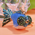 Big Cute Kawaii Gold Fish Resin Metal Keychain Bag Accessories Key Rings Chaveiro Feminino Sleutelhanger Llaveros Pareja Keyring