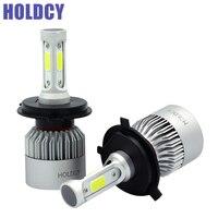 HoldCY H4 9003 LED Car Headlight Bulb Hi Lo Beam 72W COB 8000LM All In One