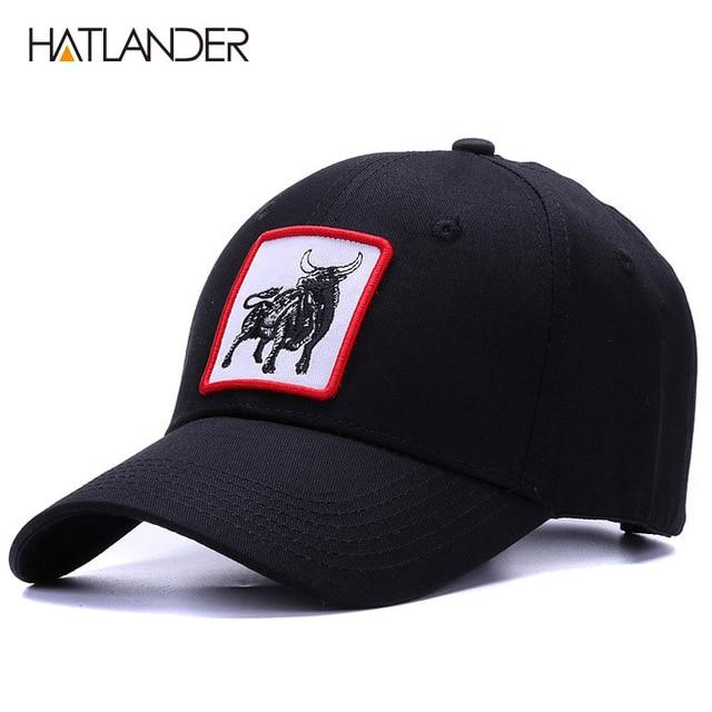 8d64220ba7f  HATLANDER High quality Animal cotton baseball caps mens snapback sports  hats 6panels black bone casquette hip hop cap women