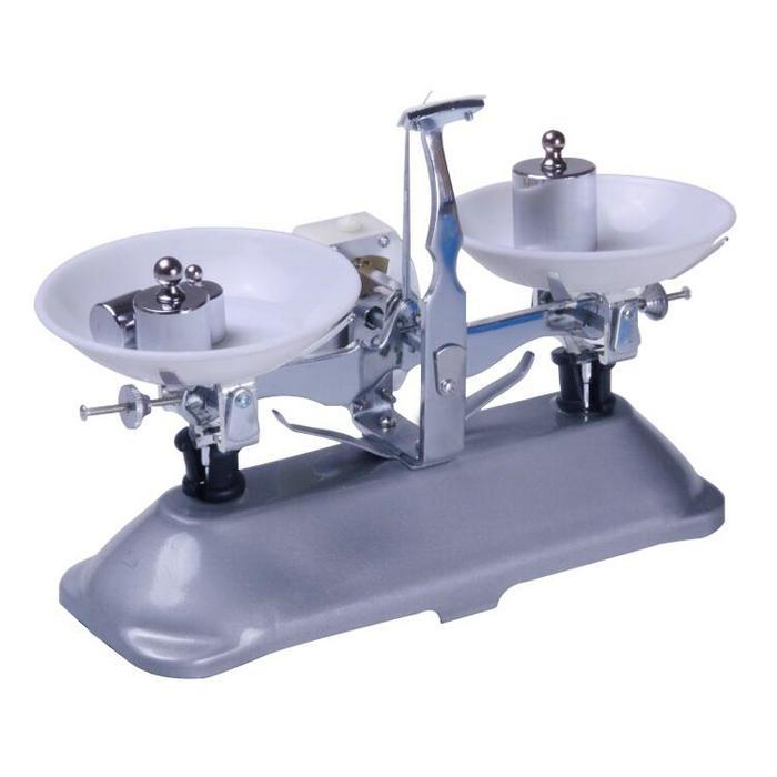 цена на Free shipping 100/200/500g Frame-pan balance, table balance, mechanical balance, physical scale With weight for teaching