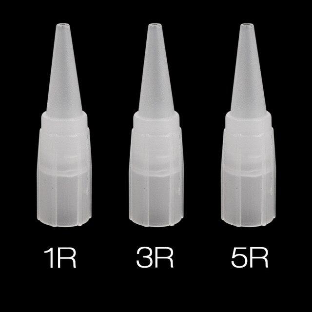 100 piezas tatuaje consejos 1R 3R 5R tatuaje tapas desechables permanente ceja agujas tapas consejos para cejas de agujas