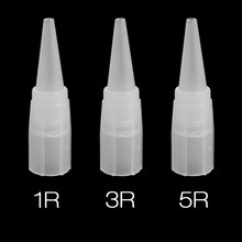 100pcs Tattoo Tips 1R 3R 5R Caps Disposable Permanent Eyebrow Needles for Machine