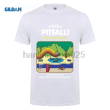 ФОТО gildan pitfall! atari 2600 retro vintage video game box art t shirt