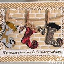Alinaccraft, металлические Вырубные штампы, рождественский подарок, носки, арабский чулок, скрапбук, бумага, альбом, открывалка, сборный резак