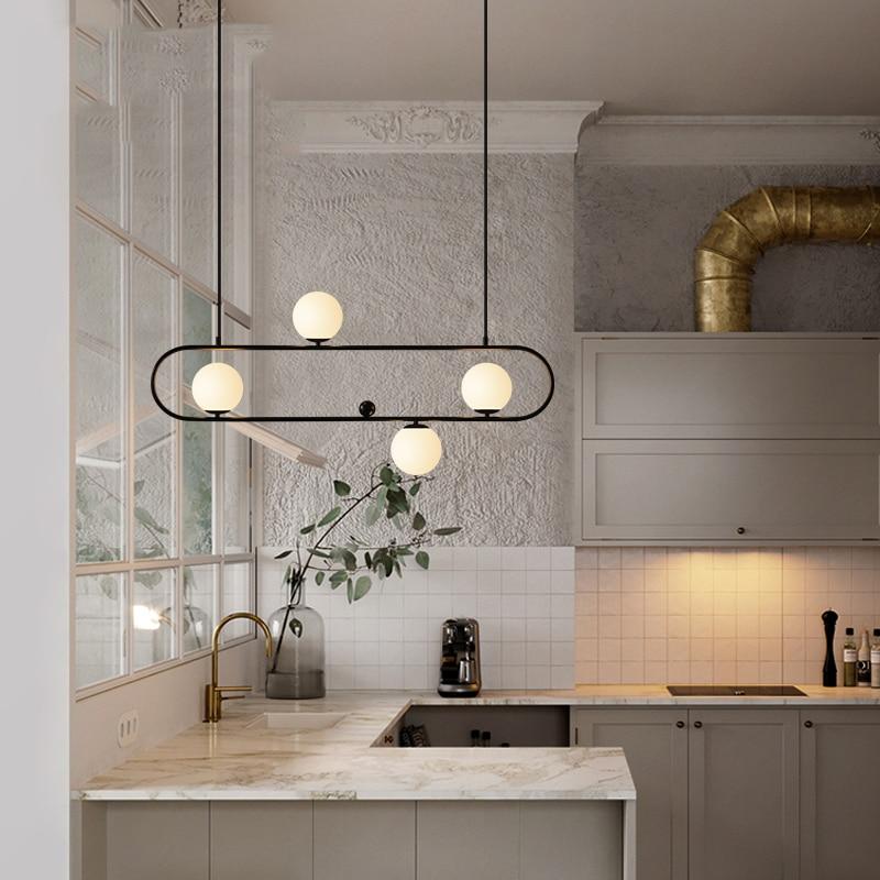 Modern Pendant Ceiling Lamps LED Glass Ball Pendant Lights Pending Lighting Dining Living Room Bedroom Home Decor Hanging Light in Pendant Lights from Lights Lighting