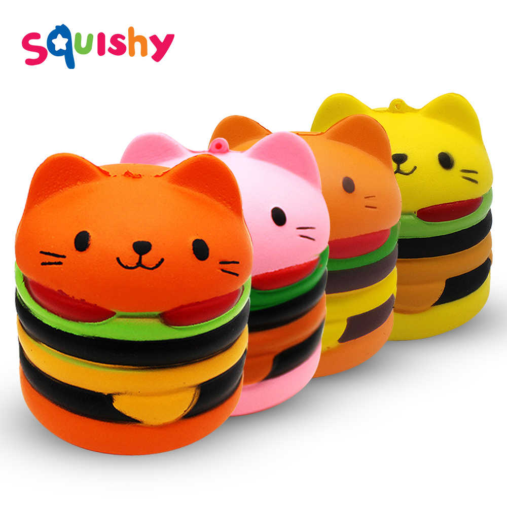 Squishy Hamburger Kat Antistress Squishe Sport & Entertainment Novelty Gag Speelgoed Anti-stress Populaire Squeeze Stress Relief Speelgoed