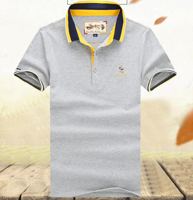 Men Summer sports clothes 2018 high quality cotton striped yachting polo climbing hiking camping tactics cargo breathable shirts