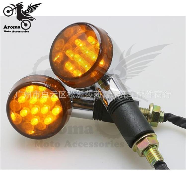 Smoke Lens Vintage Parts Motorbike Unviersal Moto Turn Signal Light For Honda Suzuki Yamaha Kawasaki Retro Motorcycle Flashing