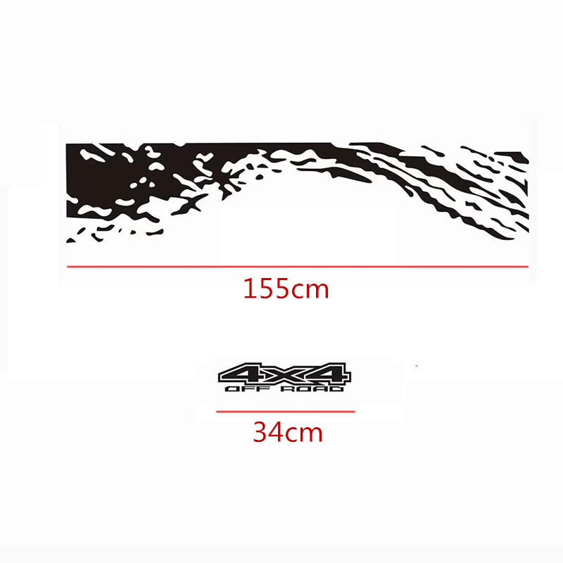 Image 5 - Car Tail Trunk Stickers Decal Car Accessories Automobiles Car Decoration Auto Products For Ford Ranger Off road Universal Pickup-in Car Stickers from Automobiles & Motorcycles