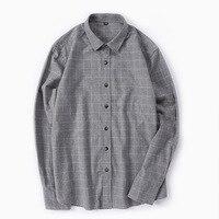 New Arrivals fall cotton Plaid long sleeved shirt baggy retro plaid mens shirts Dress for men casual shirt home male shirt