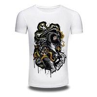 Suprema di New Brand White T shirt per Gli Uomini QUELLI SELVATICI Stampa Magliette Estate short sleeve Tee