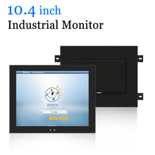 10.4 inch Embedded Metal Shell Industrial Display 10.4 Factory PC Monitor with DVI HDMI VGA AV TV Output