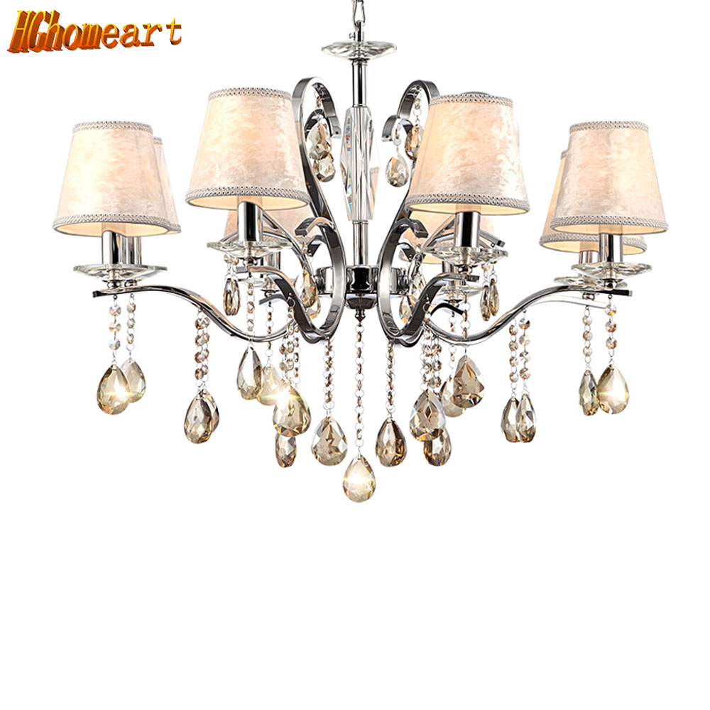 HGHomeart Shine Luster Moderno Chandelier LED Lamp Nursery Chandeliers for Living Room Decoration Lighting Luminaire Suspendu new american all copper chandelier gold 6 8 10 lights water shade luster led lighting living room restaurant lamp