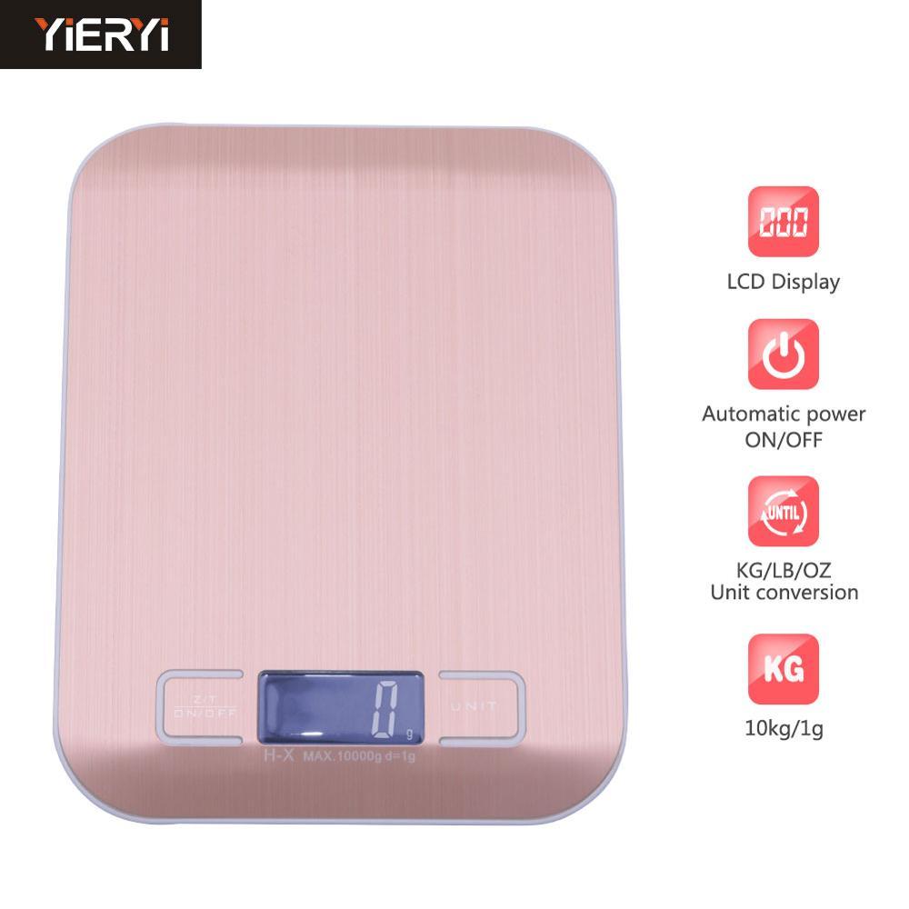 Кухонные весы 10 кг 1 г, пищевые диетические Почтовые весы, измерительный инструмент, тонкие цифровые электронные весы с ЖК-дисплеем-0