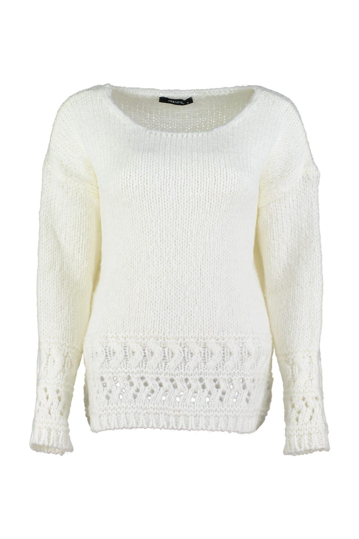 Trendyol Ecru Knitwear Sweater TWOAW20ZA0077