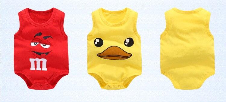 2018 Nieuwe Baby Mouwloze Vest Zomer Driehoek Pasgeboren Bodysuit - Babykleding - Foto 3