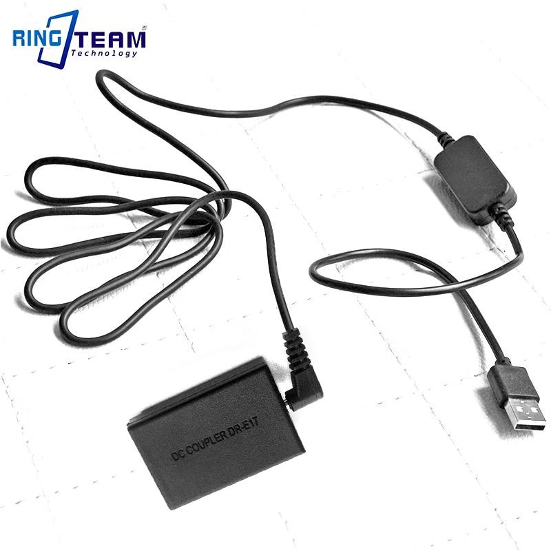 DC 5V USB Power Cable CAPS700 PS700 + Dummy Battery LP-E17 DC Coupler DR-E17 for Canon EOS M3 M5 EOSM3 EOSM5 Digital Cameras