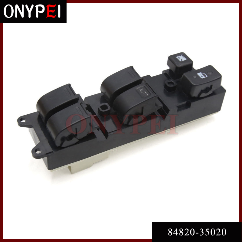 New 84820-35020 Power Window Master Switch For Toyota LandCruiser 70 80 Hilux Carina ...