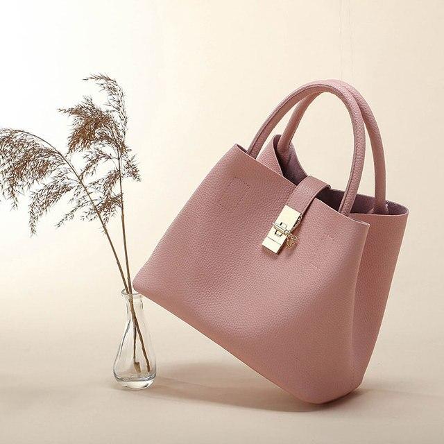 Women's Handbags Fashion Shoulder Bags Ladies Totes Simple Women PU Tote Bag 1