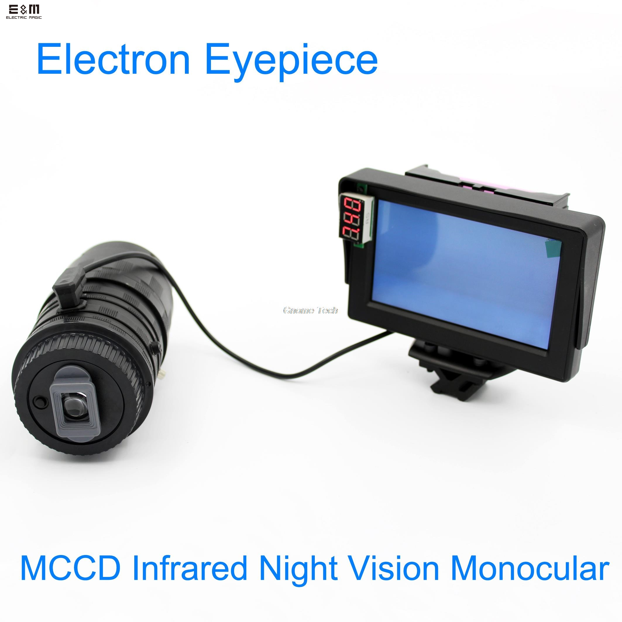 E&M Infrared Electron Eyepiece Night Vision Monocular MCCD Hunting With Display Goggles Scope Device Riflescope Customizable rg 55 1x24 head mounted night vision scope night vision googles night vision goggles infrared goggles